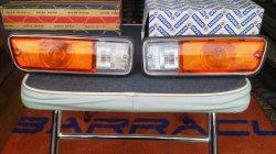 画像1: ダットサン 521 輸出用フロントランプ 左右セット Front lamps for Datsun 521
